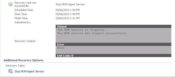 Using SCOM to Automatically Stop MOM Agent Service