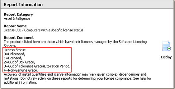 Incorrect description in SCCM Report License 03B – Computers with a