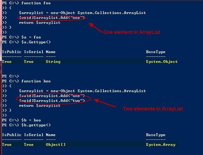 Powershell functions do not return single element arrays managing image maxwellsz