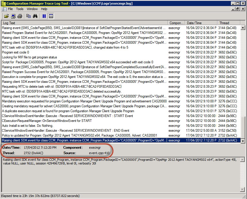 SCCM 2012 Log Parser: cmtrace.exe | Managing Cloud and Datacenter by
