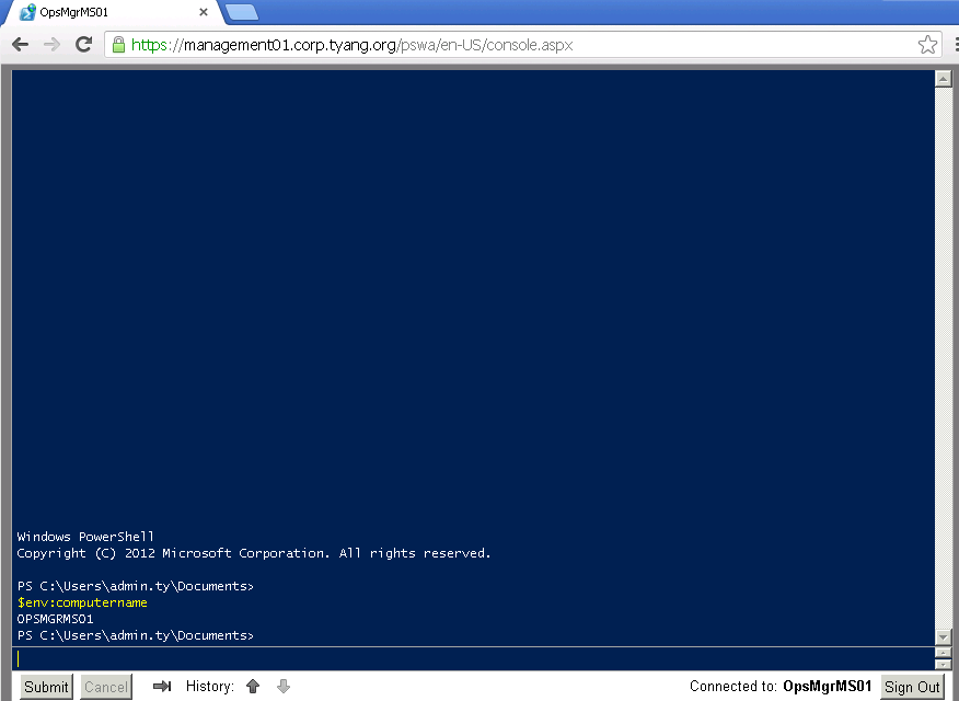 My First Impression on PowerShell Web Access | Managing
