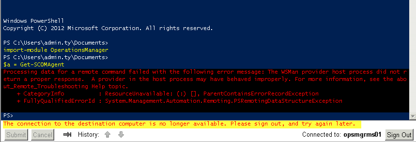 My First Impression on PowerShell Web Access   Managing