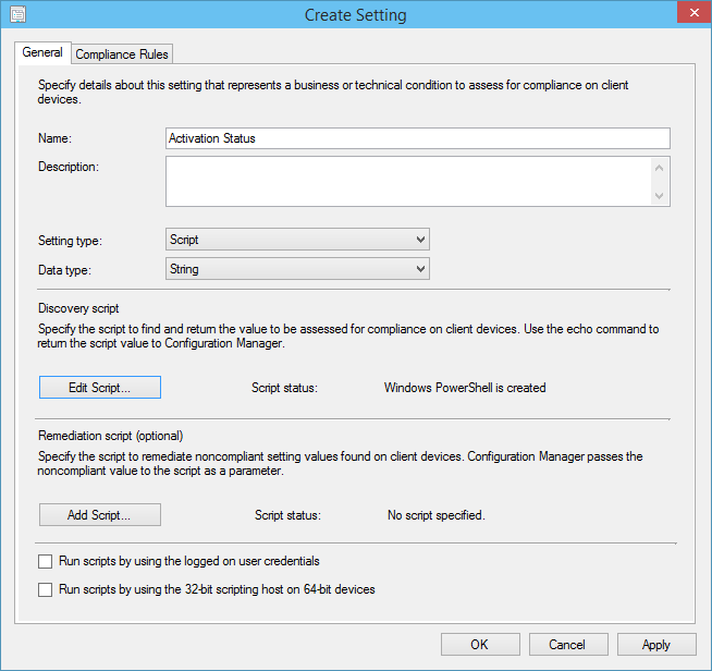 Detecting Windows License Activation Status Using ConfigMgr DCM and