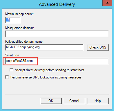 Using Exchange Online (Office 365) For OpsMgr Email