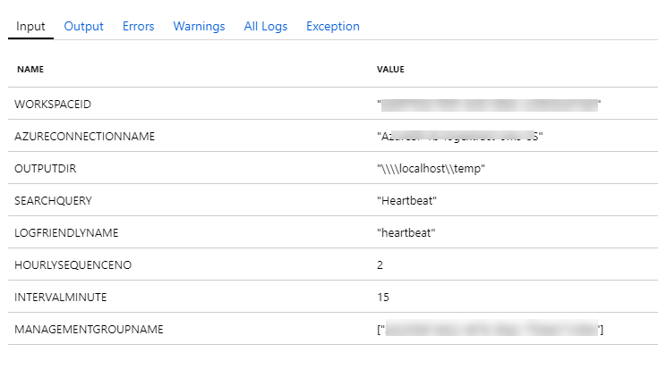Azure Automation Runbook to Export Data From Multiple Log Analytics